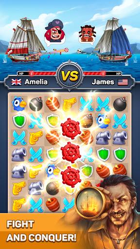 Pirates & Puzzles - PVP Pirate Battles & Match 3 1.0.2 screenshots 1