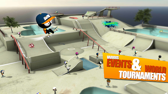 Stickman Skate Battle MOD APK (Unlimited Money) 4