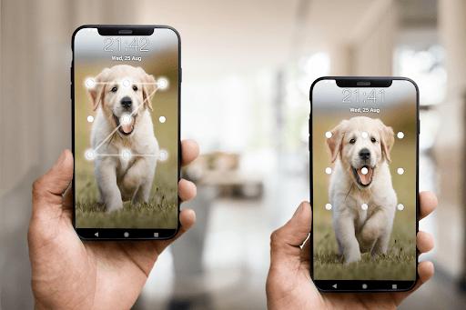 Puppy Dog Pattern Lock Screen android2mod screenshots 4