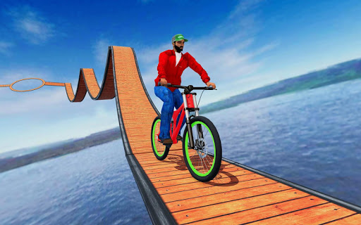 Stunt bike Impossible Tracks 3D: New Bicycle Games 30 screenshots 1