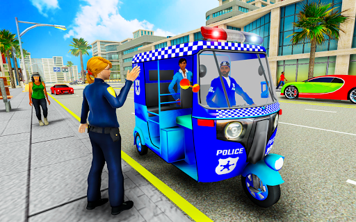 Police Tuk Tuk Auto Rickshaw Driving Game 2020 modavailable screenshots 1