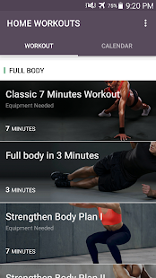 Home Workout - No Equipment & Meal Planner Screenshot