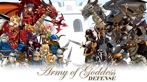Army of Goddess Defense - Against Darkness apktreat screenshots 1