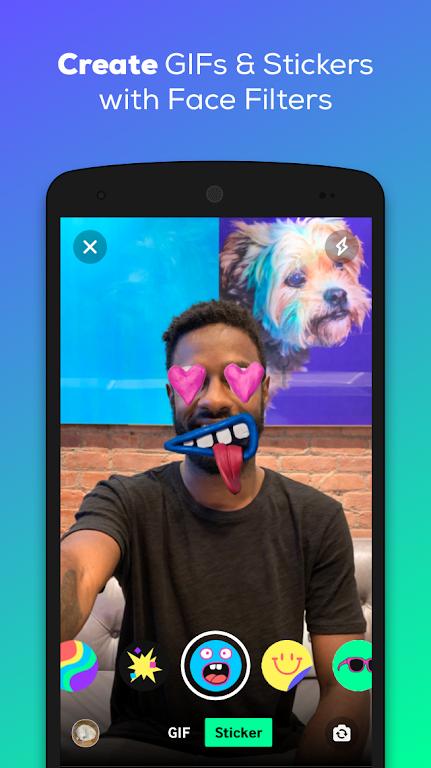 GIPHY: GIF & Sticker Keyboard & Maker  poster 2