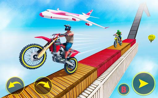 ramp bike impossible bike stunt game 2021 screenshot 3