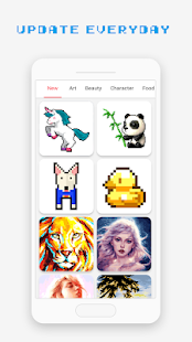 Pixel Art Book - Color by Number Free Games 1.9.9 Screenshots 2