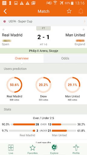 Futbol24 u2013 soccer live scores & results 2.46 Screenshots 2