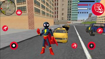 SuperHero stickman Rope Hero Gangstar Crime