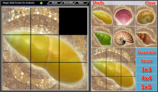 magic slide puzzle shells screenshot 2