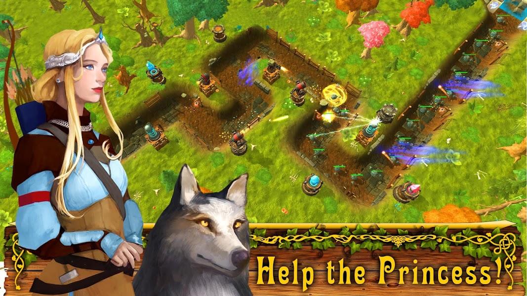 Fantasy Tower Defense. TD Offline  Games no wifi.