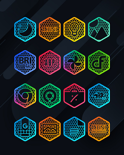 Hexanet - Neon Icon Pack