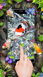 Lively 3D Koi Fish Keyboard
