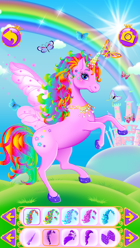 Unicorn Dress Up - Girls Games apkslow screenshots 9
