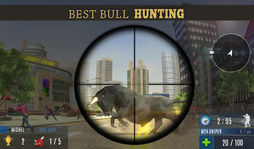 Angry Bull Attack Shooting 802.0 screenshots 6