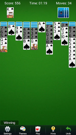 spider solitaire - best classic card games screenshot 1