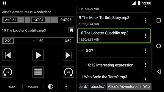 Simple Audiobook Player Free Screenshot