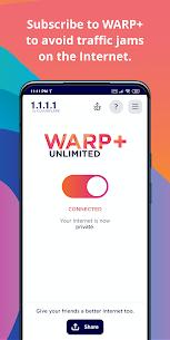 1.1.1.1: Cloudflare DNS Mod Apk (Free WARP+) 3
