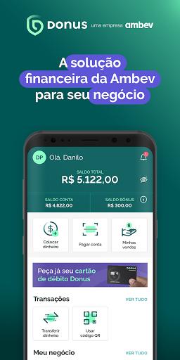 Donus: Conta, Maquininha e Empréstimo por Ambev  screenshots 1