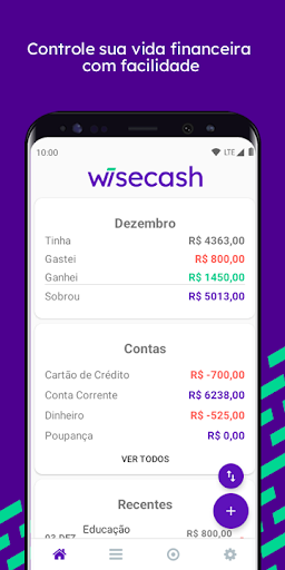 Wisecash - Controle Financeiro Pessoal  screenshots 1