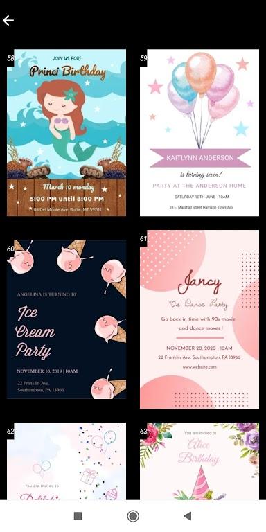 Invitation maker 2020 Birthday & Wedding card Free  poster 7