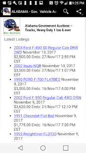 Gov. Vehicle Auction  Listings - All States