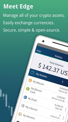 Edge - Bitcoin, Ethereum, Monero, Ripple Wallet  Screenshots 6