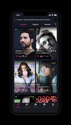 online live chat, video, meet, date new people app screenshot 1