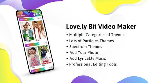 Love.ly Video Status Maker Musical Photo Slideshow Apkfinish screenshots 1