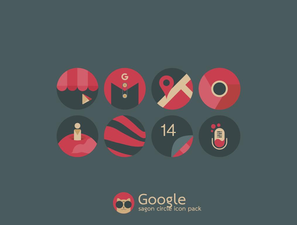 Sagon Circle Icon Pack: Dark UI  poster 6