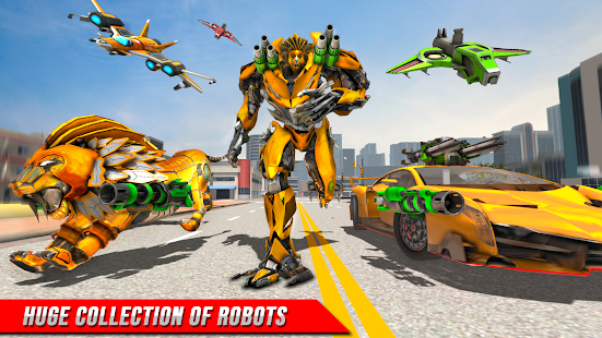Игры с роботами - трансформация машины льва 1.3 APK + Мод (Unlimited money) за Android