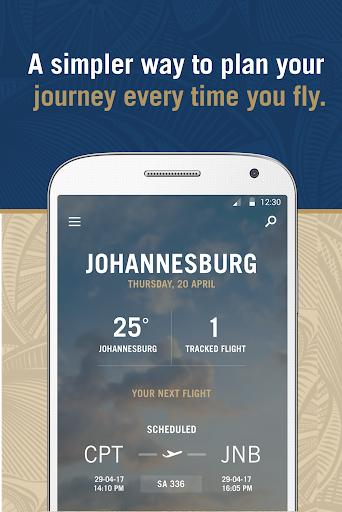 South African Airways Screenshot 1