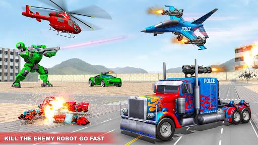 Police Truck Robot Game u2013 Dino Robot Car Games 3d 1.2.9 screenshots 1