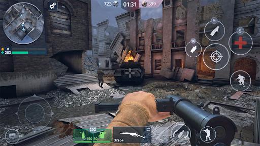 World War 2 - Battle Combat (FPS Games) android2mod screenshots 4