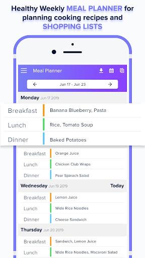Foto do Meal Planner – Shopping List