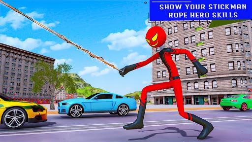 Flying Stickman Rope Hero  screenshots 24
