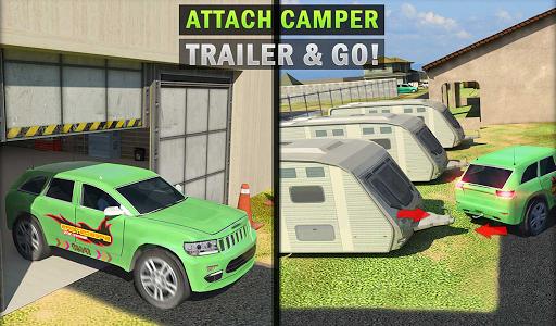 Camper Van Truck Simulator: Cruiser Car Trailer 3D screenshots 10