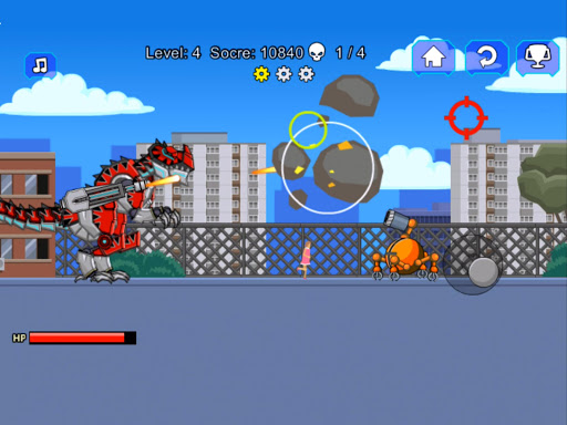 Red T-Rex Robot Dinosaur 2.5 screenshots 5