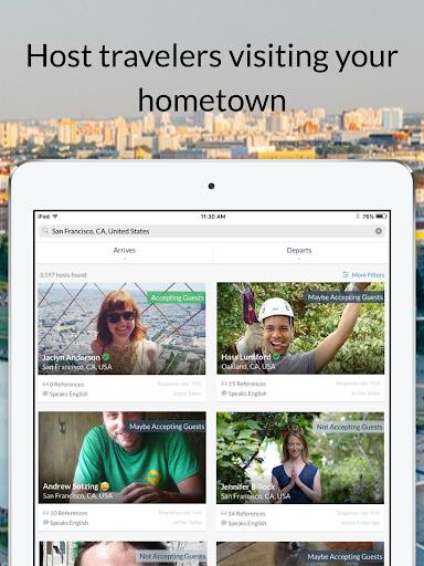 Couchsurfing Travel App  Screenshots 7