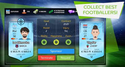 Mobile Football Agent - Soccer Player Manager 2021 1.0.7 screenshots 3