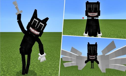 Cartoon Cat VS Siren Head Addon for MCPE
