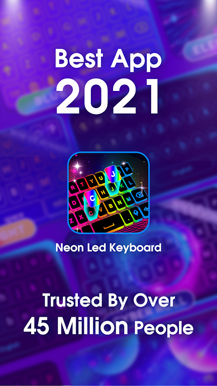Neon LED Keyboard - RGB Lighting Colors poster 1