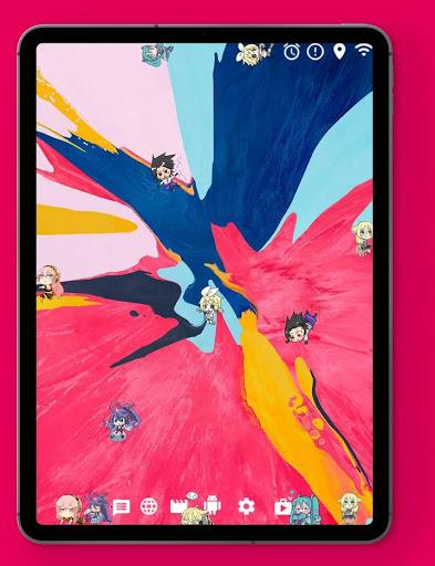 Akimeji: Shimeji, Chibis, Live Wallpaper over apps apktram screenshots 9