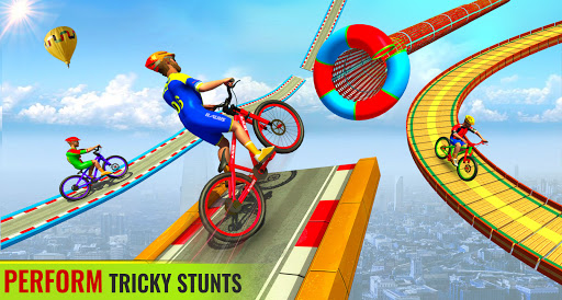 BMX Bicycle Racing Stunts 3D Mega Ramp Cycle Games 2.7 screenshots 9