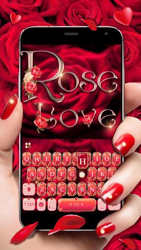 rose love keyboard theme screenshot 1