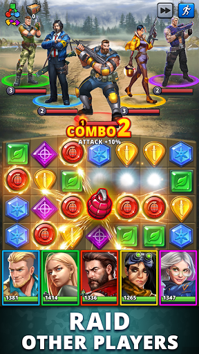 Puzzle Combat: Match-3 RPG android2mod screenshots 6