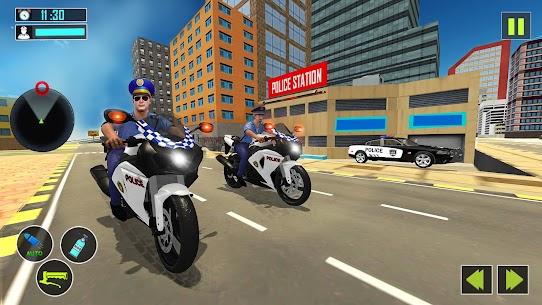 US Police Motor Bike Gangster Chase Games Apk Son Sürüm 2021 4