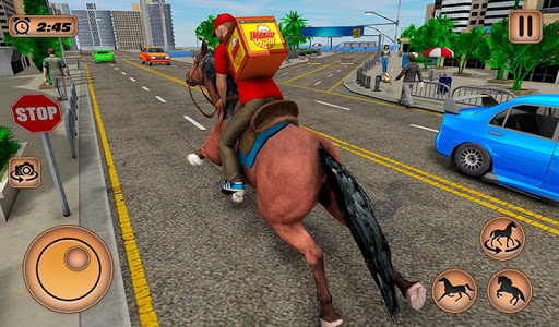 Mounted Horse Riding Pizza Guy: Food Delivery Game 1.0.3 screenshots 8