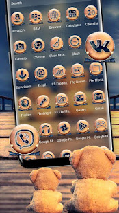 Lonely Teddy Theme Launcher