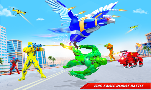 Flying Police Eagle Bike Robot Hero: Robot Games 30 Screenshots 2