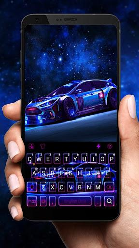 Racing Sports Car Keyboard Theme 1.0 Screenshots 1
